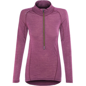 Devold W's Running Zip Neck LS Shirt Plum